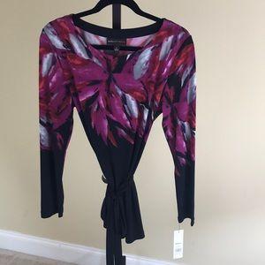 Dana Buchman Women's Belted Long Shirt. Sz L. NWT